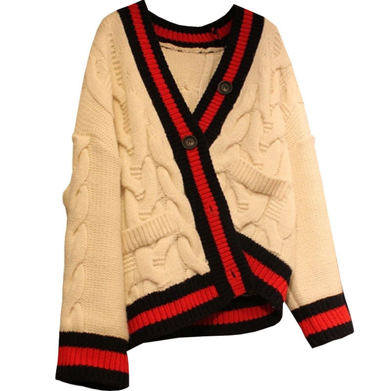 Knitted Cardigans Edge-Sweater Designer Luxury Brand Spring Hit-Colors Black White Patters-Stripe
