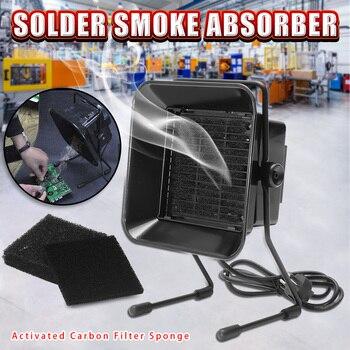 220 ボルト 16 ワットポータブルはんだ煙アブソーバー Esd ヒューム抽出器はんだ鉄作業はんだ喫煙ファンフィルタースポンジ