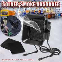 220V 16W Portable Solder Smoke Absorber ESD Fume Extractor for Soldering Iron Work Soldering Smoking Fan with Filter Sponge(China)