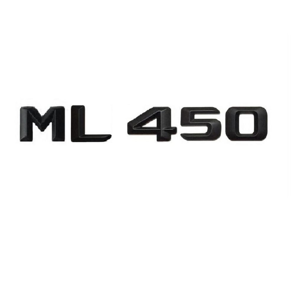 Matt Black  ML 450 Car Trunk Rear Letters Words Number Badge Emblem Decal Sticker for Mercedes Benz Class ML450