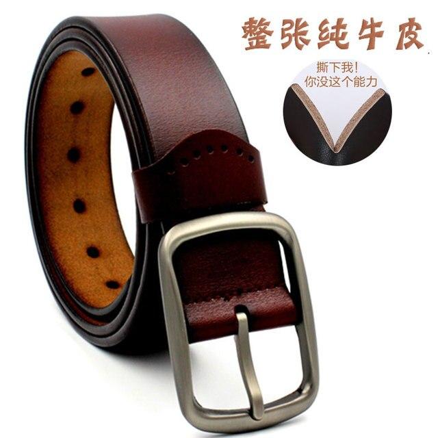 Cowather alliage boucle ardillon 100% top vache véritable en cuir mens ceinture  pour hommes mode 00a1b037f5f