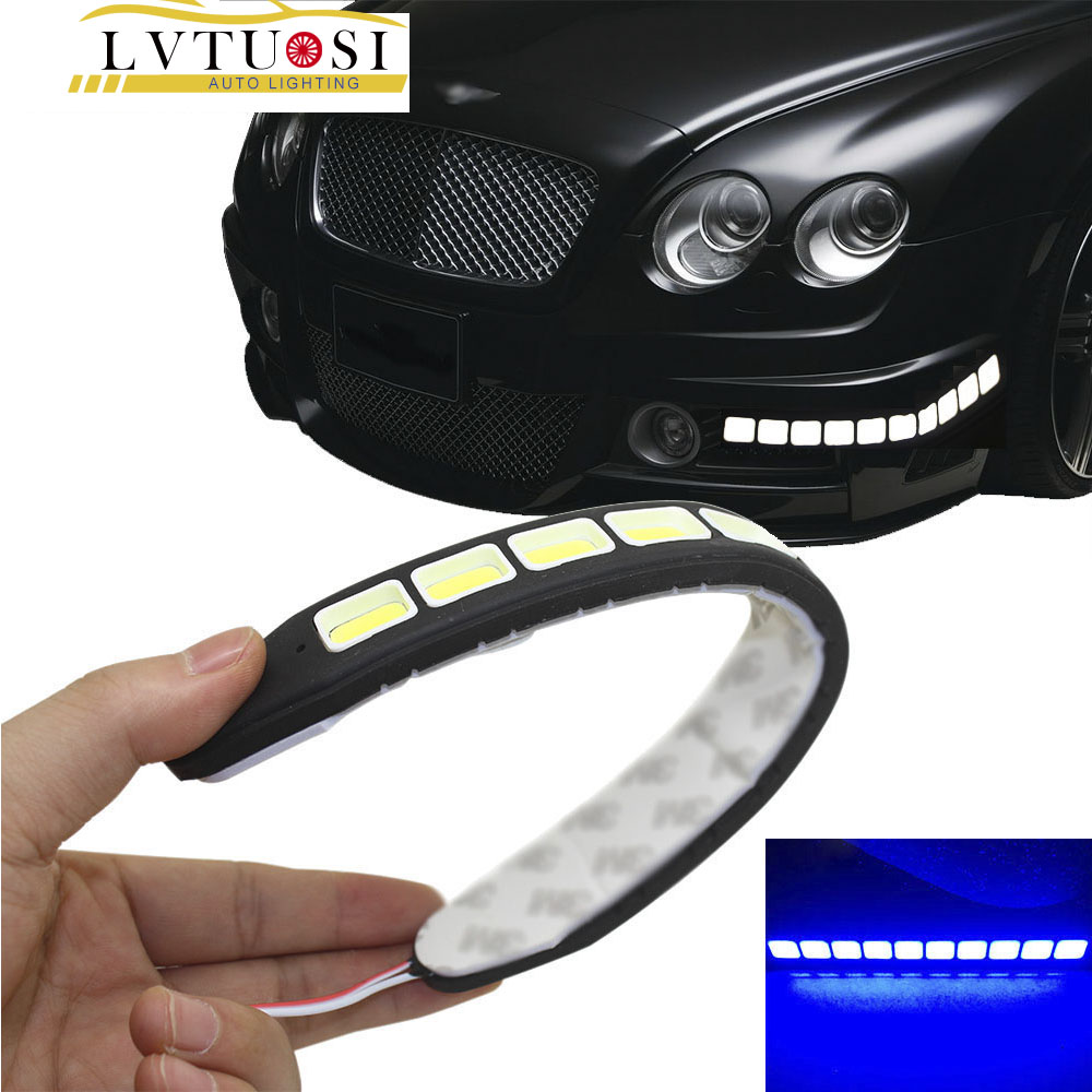 2pcs Square 21cm Bendable Led Daytime Running light 100% Waterproof - Car Lights