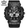 SMAEL Fashion Watch Men Waterproof LED Sports Military Watch Shock Resistant Men's Analog Quartz Digital Watch Relogio Masculino