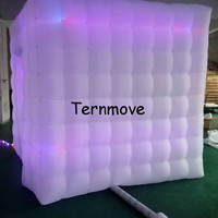 inflatable cube photo booth inflatable air wall portable Photobooth selfie cabinet with Led inflatable cabin foto booth tent