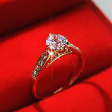 USTYLE New 2015 Wedding Ring for Women Classic White  1ct Top CZ Stone Finger Rings Female Engagement Ring UR0779