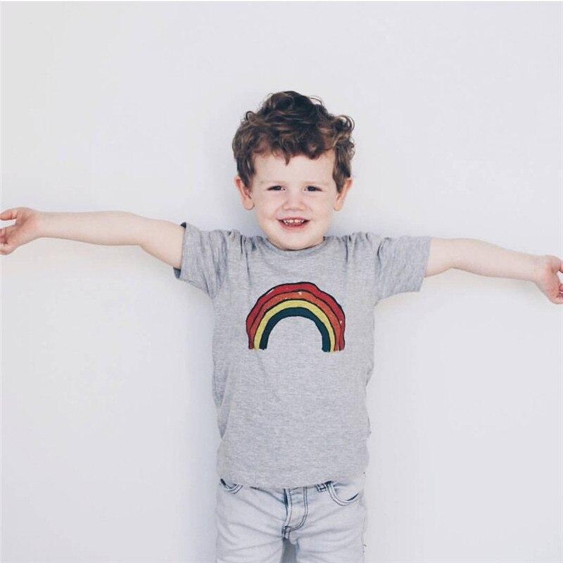 Kids Tshirt Matching Tops Girls Design Boys Fashion Summer Brand Sister