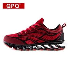 Modelo QPQ Hombres zapatos 2017 Nueva Marca de Moda Los Hombres Cómodos Zapatos de La Hoja de Alta Calidad Zapatos Casuales 39-44