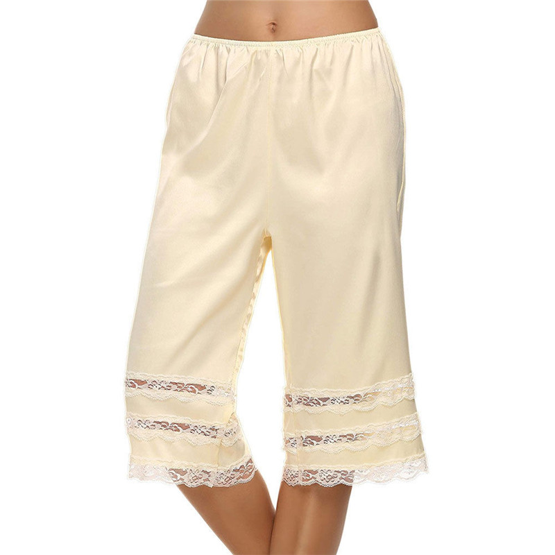 Bottoms Anti-static Slip Pettipants Half Slip Petti Pants Knickers Breathable Soft Lace Loose Pants Agreeable To Taste Pants & Capris