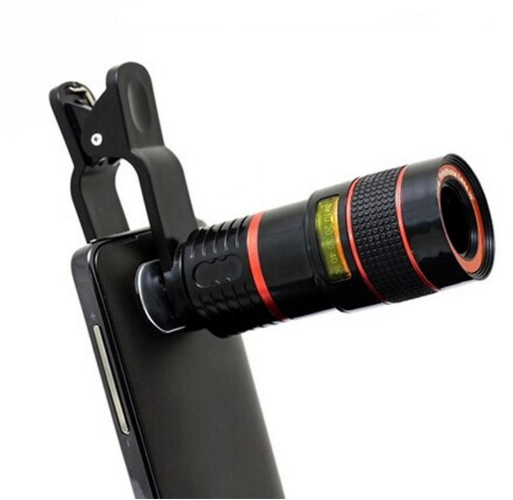 Universal 8X 12XOptical Zoom Telescope Camera Lens Clip Mobile Phone Telescope For iPhone6 for Samsung for HTC for Huawei Xiaomi