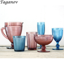 Water Glass Red Wine Cup Juice Milk Tea Multi Color Ice Cream Beverages Drinks Drinking Glasses European for Household