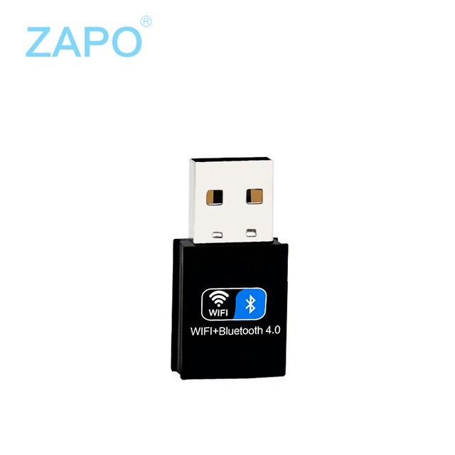 Zapo mini usb bluetooth 4.0 adaptador wi-fi 150 mbps 802.11n/g/b placa de rede sem fio wi-fi antena wi-fi adaptador de modem de internet