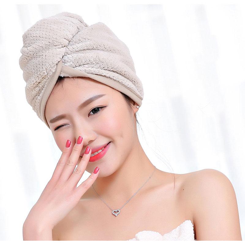 GIANTEX Japanese Polyester Cotton Women Bathroom Super Absorbent Quick-drying Bath Towel Hair Dry Cap Salon Towel 23x60cm U1031 12