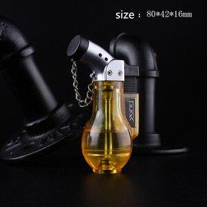 Image 4 - Компактная Бутановая струйная зажигалка, турбозажигалка, ветрозащитная распылительная Зажигалка 1300 с, без газа, бутылка для вина