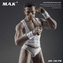 1/6 New Strong Male Super-Flexible Seamless Body with Stainless steel Skeleton Natural/Wheat/Black Skin Model for 12'' Figure