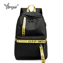 купить casual preppy style women backpack large capacity letter panelled student school backpacks USB Charging Backpack Laptop Backpack дешево