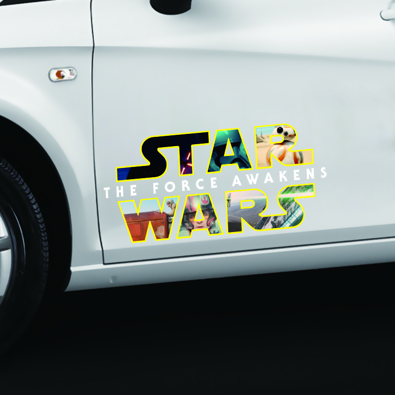 ETIE Car Styling Funny Car Sticker Decal Cool Star Wars Car Side - Star wars car decals