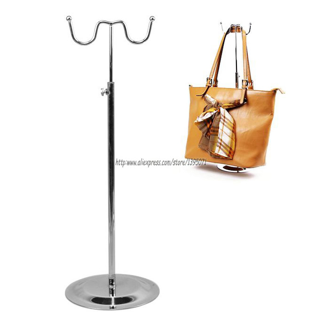 High Quality Metal Handbag Display Stand Jewelry Showing Shelf Rack Bag  Holder Bag Hook Stainless Cap Display Props 7ab922bca49e9