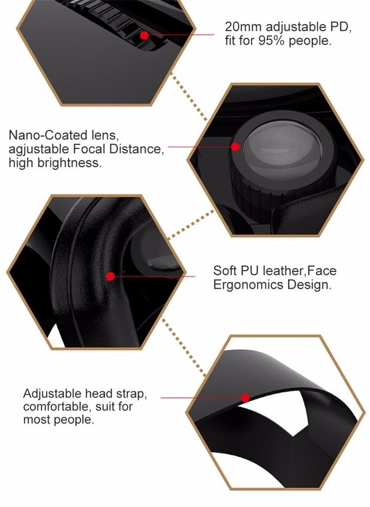 Original VR Shinecon Virtual Reality VR Box 3D VR Glasses Game BOX Google board For 4.0-6.0 Inch smartphone 15