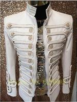 Модные для мужчин ручной работы Блейзер пиджак мужской певица танец сцены Топ ночной клуб куртка одежда