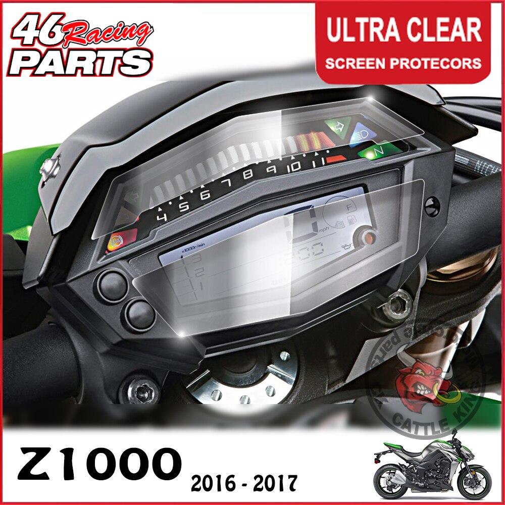 Ck gado rei cluster scratch cluster protetor de filme proteção tela para kawasaki z1000/z 1000 2016 2017