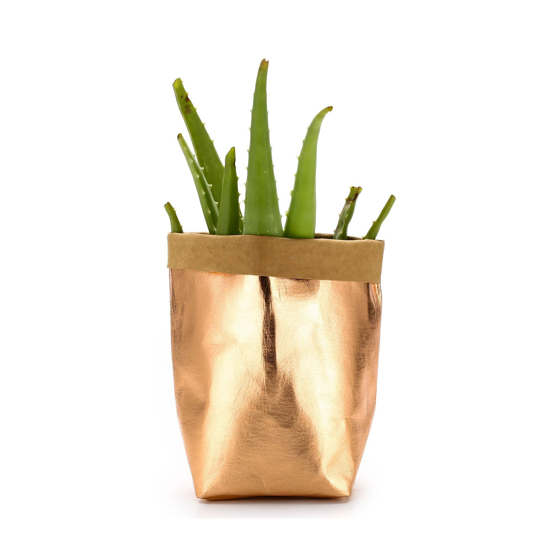 Image 2 - Washable Kraft Paper Bag Plant Flowers Pot Multifunction Home Storage Bag Reuse Art Vase Pot Reusable For Home Decor-in Flower Pots & Planters from Home & Garden