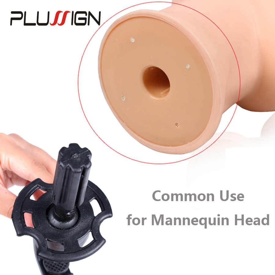 Modelo ajustable maniquí cabeza de entrenamiento peluca soporte escritorio Mesa abrazadera Color negro 1 pieza