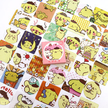 Cute Yellow Pudding Dog Label Sticker Decorative Stationery Stickers Scrapbooking DIY Diary Album Stick Lable 46PCS/box