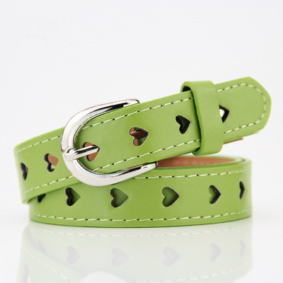 Summer new Hollow heart wide belts for women 2018 fashion Candy colors female belt Children's belts and straps