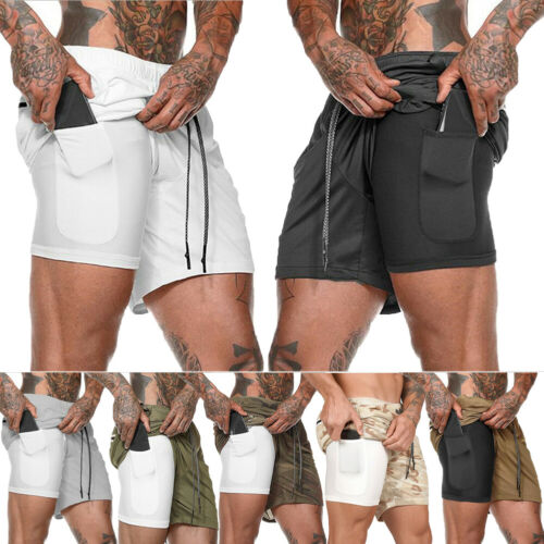 Men's Sports Training Bodybuilding Summer Shorts Workout Fitness GYM Mens Running Sleep Casual Short Pants