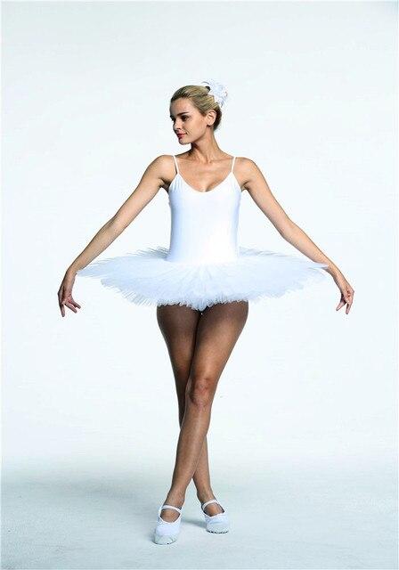 ab326d69b2 Mulheres Tutu Panqueca Profissional Branco Adulto Ballet Vestido Tutu 8  camadas De Patinação Artística Roupas Swan