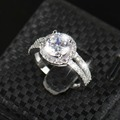 Real 925 Sterling Silver Sapphire Ring Pink Wedding Engagement Zirconia Finger anel CZ Diamond for Women Jewelry Pure 100% R&J