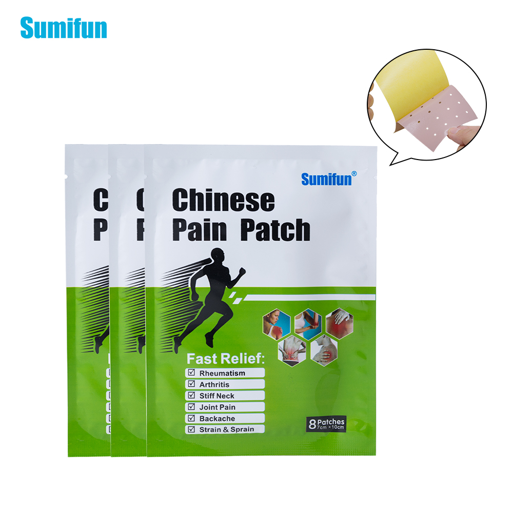 8Pcs Pain Patch Body Massager Health Analgesic Plaster For Joint Pain Cervical Spondylosis Anti-inflammatory K01701