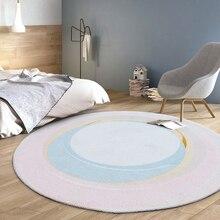 Нордический простой круглый ковер домашний декор гостиной круглый ковер компьютерный стул напольный коврик Детская комната ползание ковры коврик для гардеробной