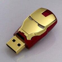 Iron Man USB Flash Drive 128GB 512GB Memory Stick Mini USB Stick Pen Drive 256GB External Storage Pendriver 32GB 64GB Driver 2.0
