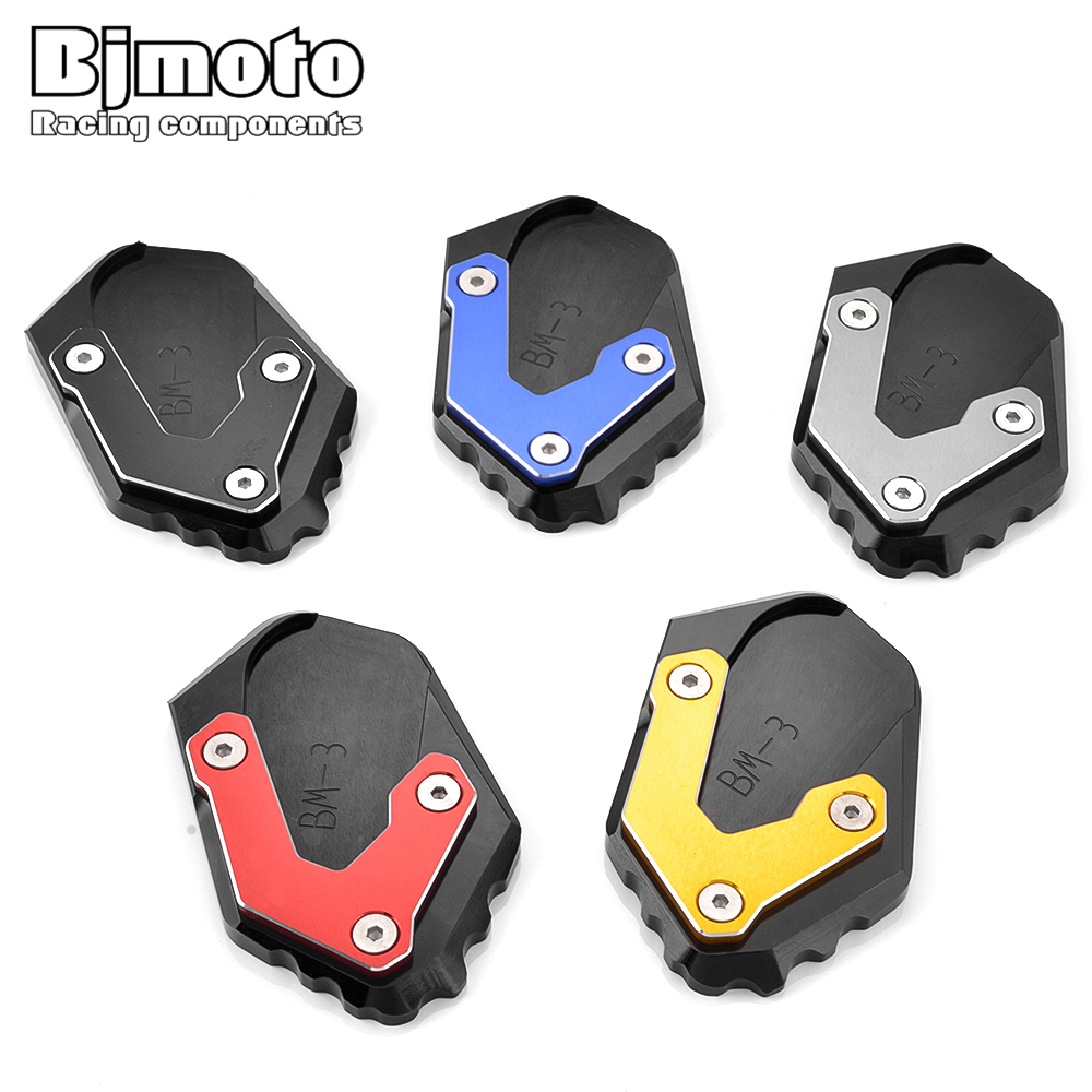 BJMOTO Motorcycle CNC Rest Panels Extend Kickstand Extension For <font><b>BMW</b></font> R1200GS <font><b>LC</b></font> Adv <font><b>Moto</b></font> Side Stand Plate Pad Enlarge R <font><b>1200</b></font> <font><b>GS</b></font> image