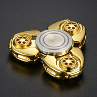 HOT CKF Metal Alloy Tri Spinner EDC Spin Fidgets Anti Stress Sensory Metal Finger Spinner Hand
