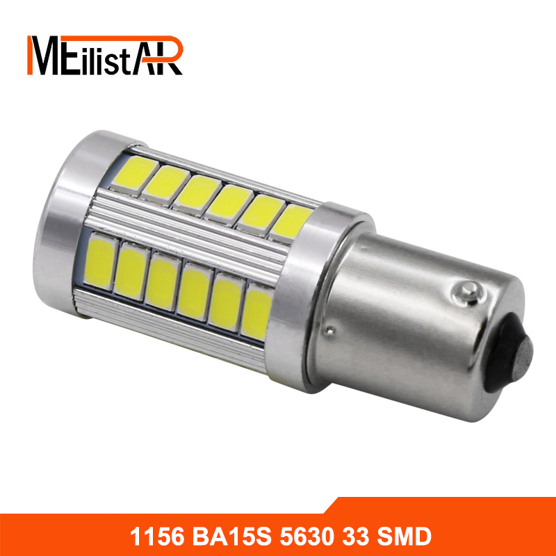 1156 P21W BA15S 33 LED 5630 5730 auto brake lights fog lamp reverse light car daytime running light white red yellow Car styling 1x car led t20 7443 w21 5w 33 led 5630 5730 smd auto brake lights fog lamp reverse light car daytime running lights red white