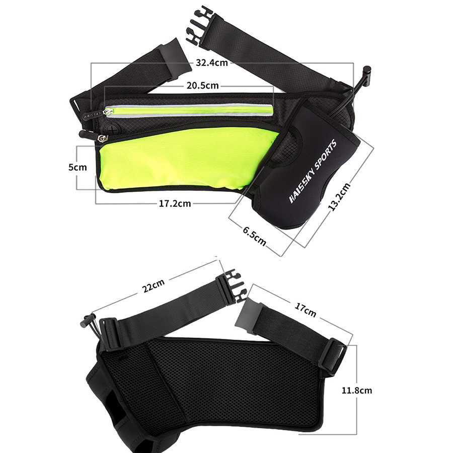 Haissky Waterproof Waist Bag Running Sport kettle Pouch Phone Case For iPhone X 8 7 6 6S Plus Samsung S9 S8 Plus Huawei Honor 9