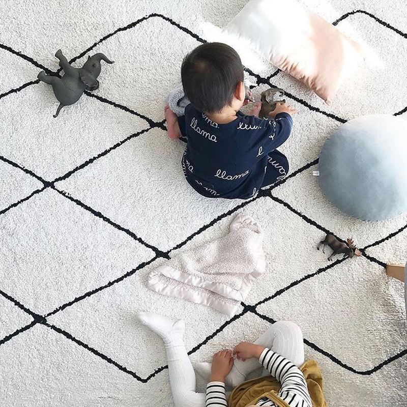 Nordic Baby Play Mat Newborn Tapete Infantil Rug Cotton Baby Kids Carpet Playmat Activity Mats Decor
