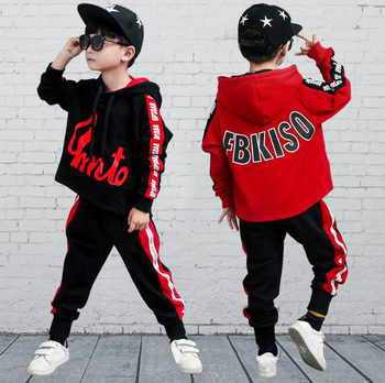 For 6 8 10 12 14 Years Children's sets Autumn boys fashion long sleeve hooded Hoodies + Haren Sweatpants vetement garcon outfits