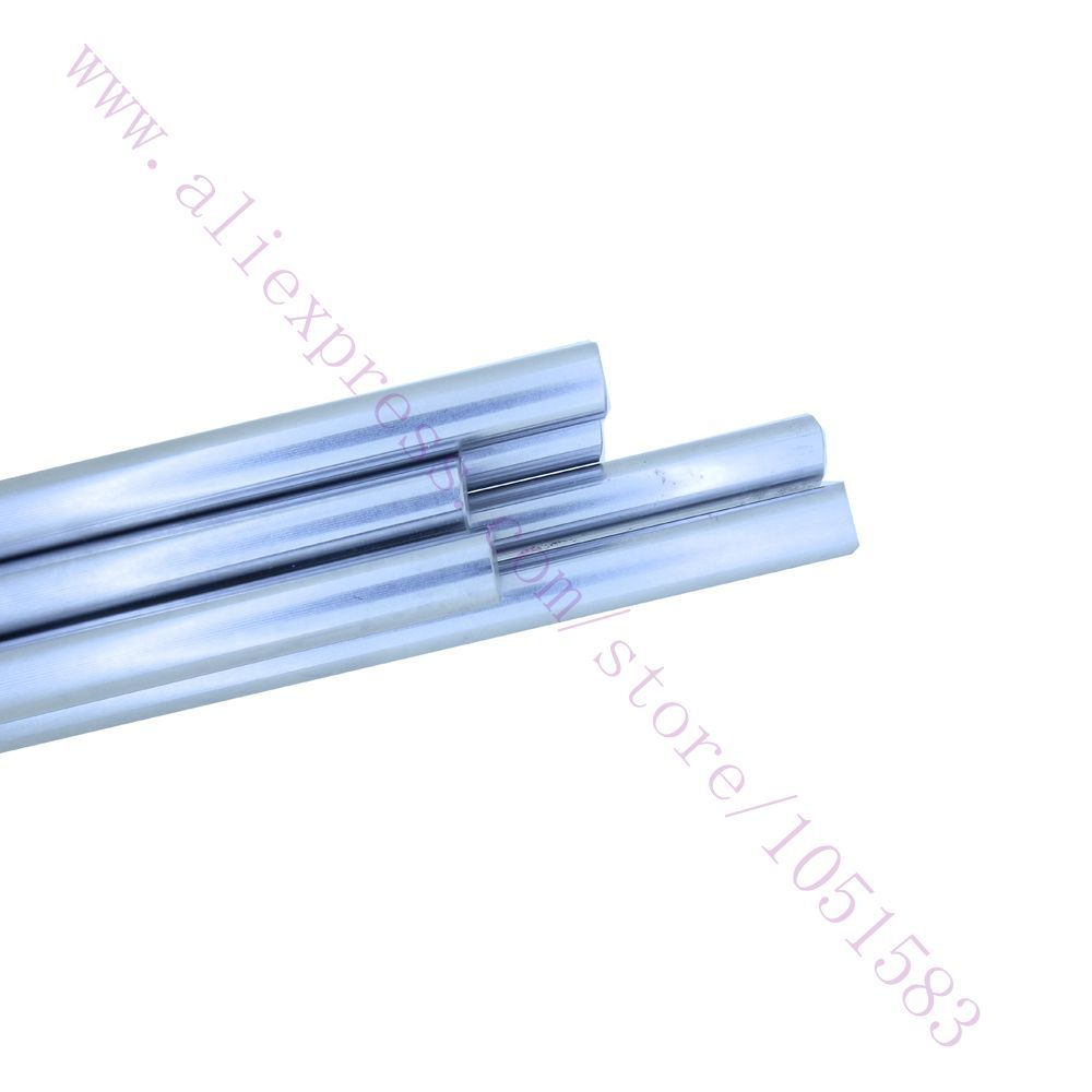 HOT 8pcs set OD5 8mm MK8 MK7 smooth rods Linear Shaft Optical Axis chrome plated for
