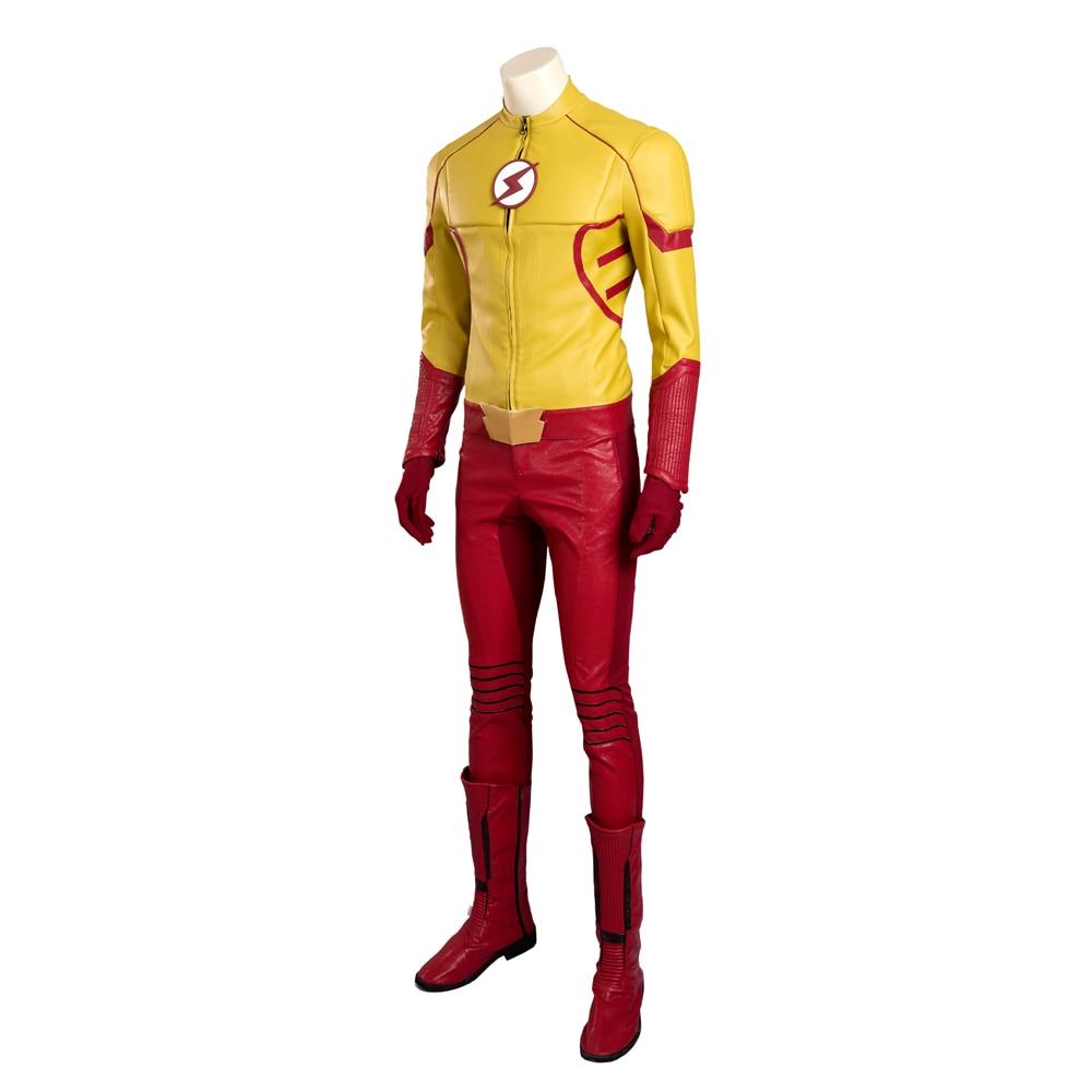MANLUYUNXIAO le Flash saison 3 enfant Flash Costume de luxe en cuir tenue Halloween carnaval Cosplay Costume pour hommes sur mesure - 2