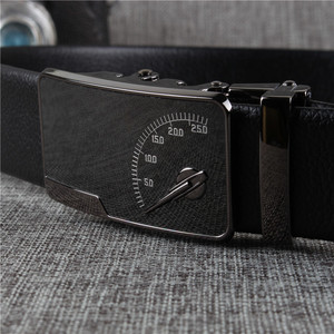 Image 2 - [DWTS] Mens leather belt buckle personality automatic belts leisure fashion pure bovine leather pants waistband free shipping