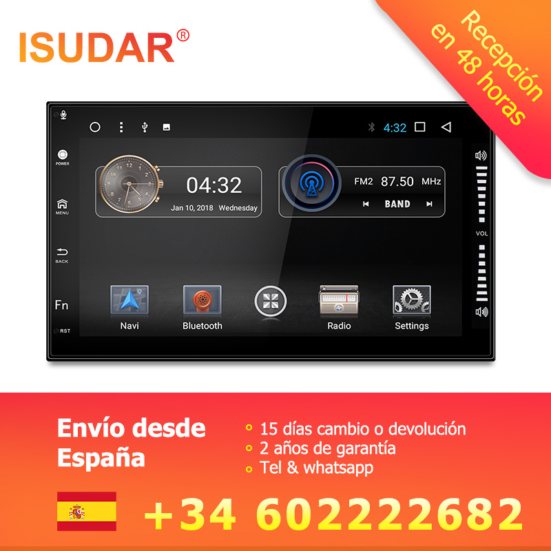Isudar Автомагнитола 2Din с Сенсорным 7 Дюймовым Экраном На android 7.1.1 Для Автомобилей Volkswagen/Passat/b5/VW/Polo/T4/Volkswagen/Golf/4/VW/Mk3/Toyota/Corolla/Nissan