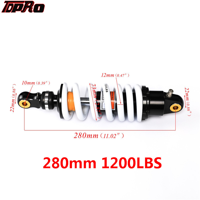TDPRO DNM 11 280mm Motorcycle Rear Shock Absorber Air Suspension For Harley BMW Honda KTM Pit Bike 125cc 140cc 150cc