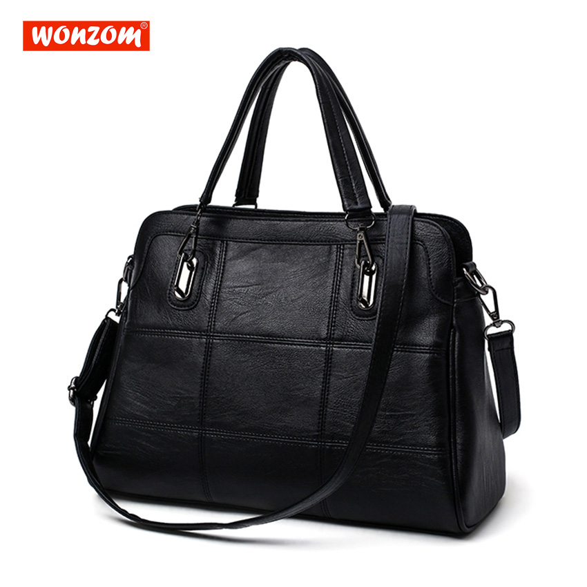 WONZOM Women Handbag Women Shoulder Bags Women Pu Leather Ladies Bags Female Tote Handbag