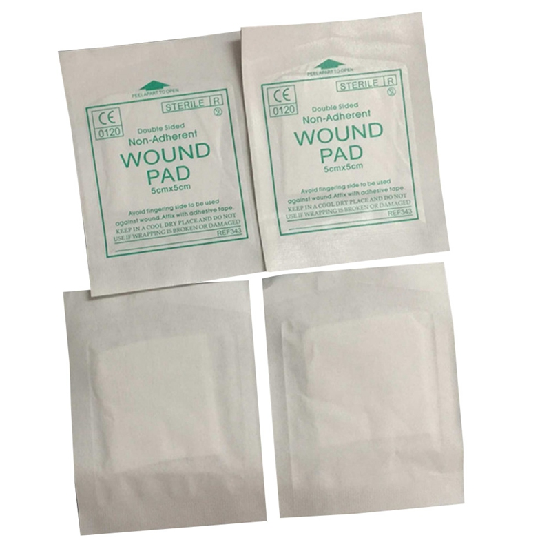 New 10 Pcs/lot Gauze Pad 100%  Cotton First Aid Waterproof  Wound Dressing  Sterile Medical Gauze  Pad Wound Care Supplies