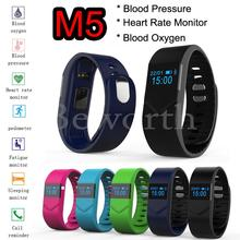 Blood Pressure Blood Oxygen Smartband Heart Rate Monitor M5 Bluetooth Smart Band Bracelet Watch Wristband for