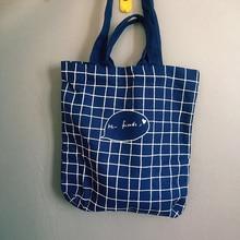 Korean original design women handmade canvas shoulder bag student preppy style shopping bag handle bag in autumn