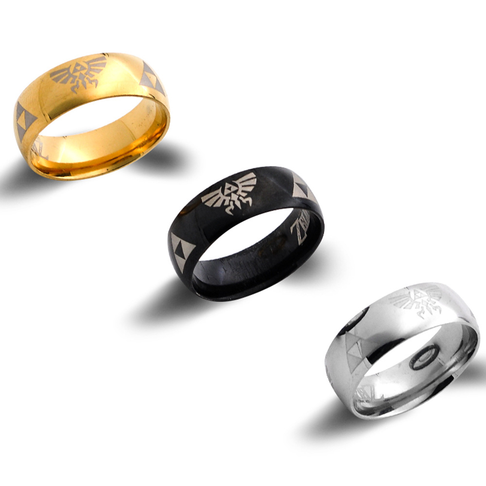 Jewelry New Arrival <font><b>Ring</b></font> Trendy Game The <font><b>Legend</b></font> <font><b>of</b></font> <font><b>Zelda</b></font> Finger <font><b>Ring</b></font> Metal Decoration Exquisite Accessory image